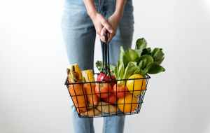 woman shopping fruits and vegetables